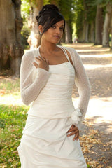 Bridal bolero to knit yourself for brides and guests