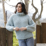 Knitted sweater in Corona time to knit yourself
