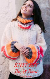 KNIT KIT: Wide knitted sweater with colorful NEON stripes
