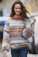 Favorite sweater for you hand-knitted from soft mohair wool by Katia