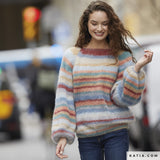 Knitted sweater with balloon sleeves made of ingenua moda