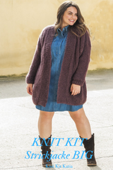 Brown cardigan for larger sizes