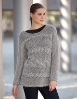 Katia Ingenua Pullvoer in gray knitting instructions and wool