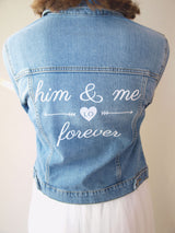 Textile sticker sticker for Brides him and me forever