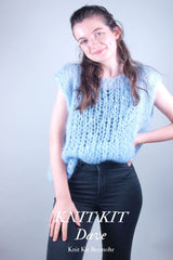 Do-it-yourself vest with mohair wool by katia