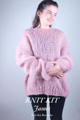 Cuddly sweater to knit yourself with mohair wool from katia