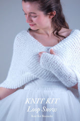 Bridal loop in cozy white to knit yourself