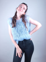 Knit fashion from Beemohr waistcoat loose and oversize Ingenua mohair