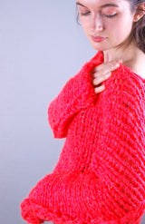Knitted sweater made of ingenouis big wool by Katia for you