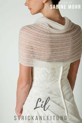 Knitting instructions for a lace bridal stole knitted by Beemohr