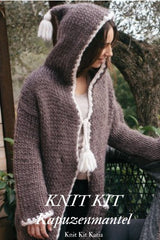 Knit cardigan with Love Wool