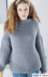 Knitting instructions for a Love Wool sweater by Katia