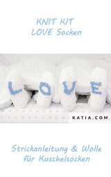 Socks with bombon wool by Katia to knit yourself