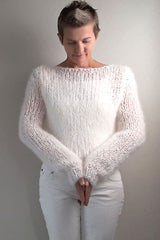 Knit Kit: Knitted sweaters made of mohair wool in many colors, tightly knitted MONTI