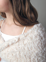 Knit loop for your bridal skirt or bridal dress knitted in a cream fur look