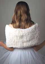 Bridal knit loop for your bridal skirt or bridal dress knitted in cream fur look
