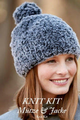 Hat and jacket by Katia made of polar wool to knit yourself