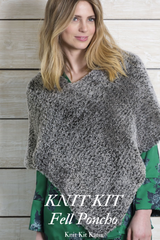 Cuddly poncho to knit yourself