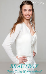 Buy bridal jacket with garter belt and lingerie in the box online