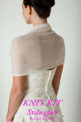 Bridal bolero to knit yourself from mohair and cashmere