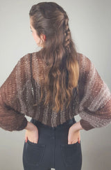 Knit bolero in brown for the evening dress