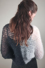 Bolero knitted in black and gray