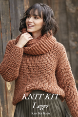 Turtleneck sweater made of winter washi by katia