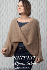 Twisted scarf with sleeves to knit yourself katia