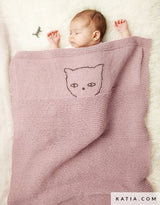 Catena baby blanket knitted by Katia