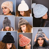 Knitting set with knitting instructions and polar wool hat and jacket to knit yourself