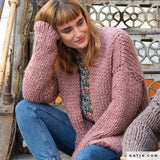 ingenious big knitted coat by Katia Wolle DIY