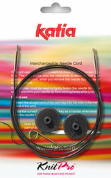 Knitting needle connection cable from Katia