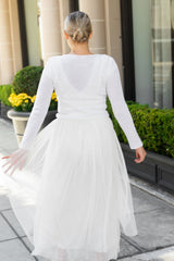white bridal sweater knitted for luxury weddings
