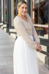 DIY wedding knit your own bridal jacket with knitting instructions