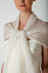 Knitted bridal throw from cashmere