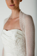 Bridal bolero knitted from baby alpaca: knitting set with wool and knitting instructions
