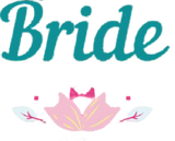 Bride iron-on lettering with pink flower