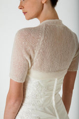 Cream jacket for the bride
