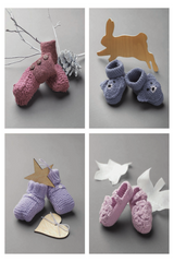 Free knitting instructions for Katia baby shoes