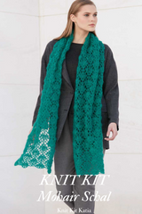 Lace stole crocheted from mohair with silk Katia