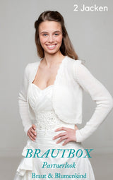 Bridal set: cardigan for bride and child by Beemohr