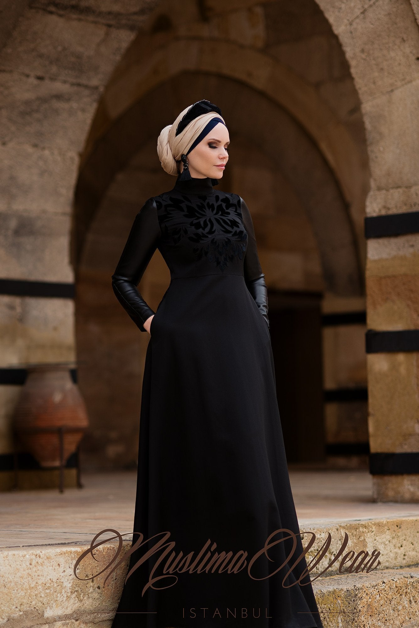 Adeliya Dress Black - Muslima Wear