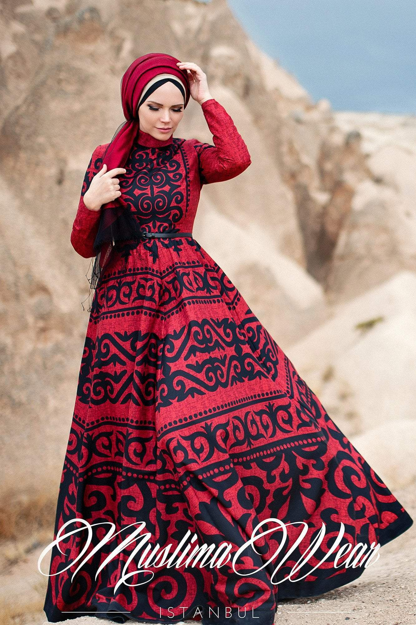 Anar Dress Ruby - Muslima Wear