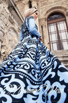 Aynoor Dress Blue - Muslima Wear