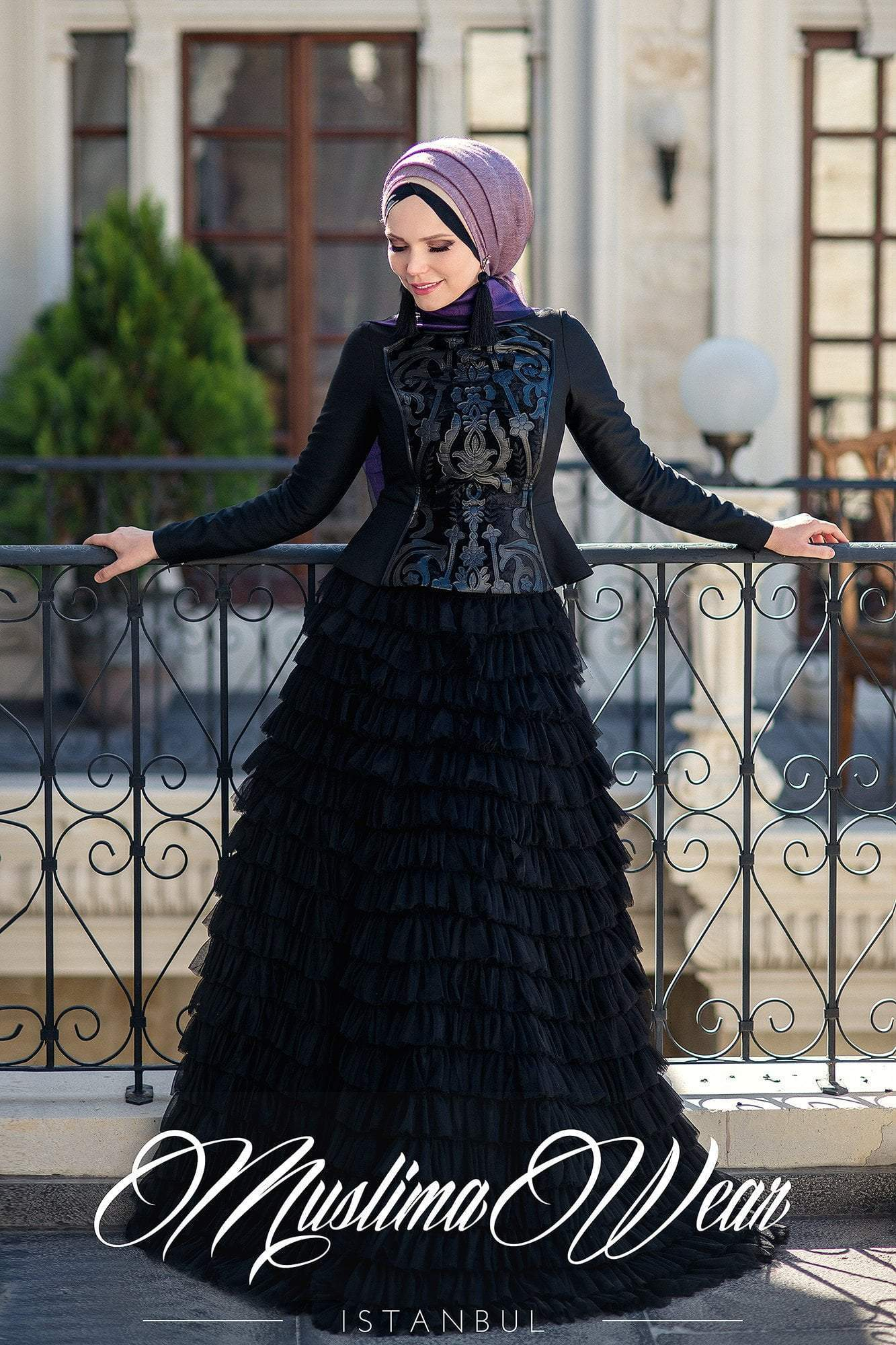 Cascade Skirt Magic Black - Muslima Wear