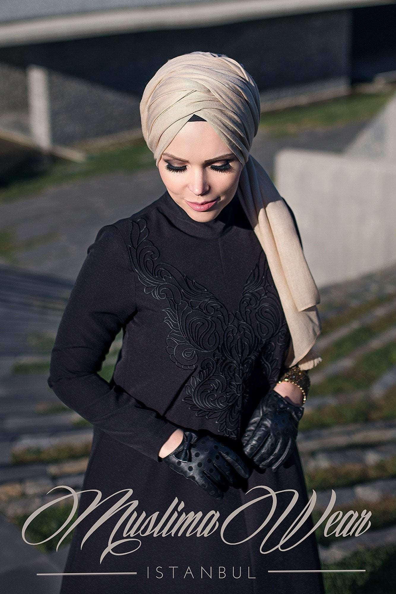 Muslima Wear Dress S / Black Diadema Dress Diamond Black