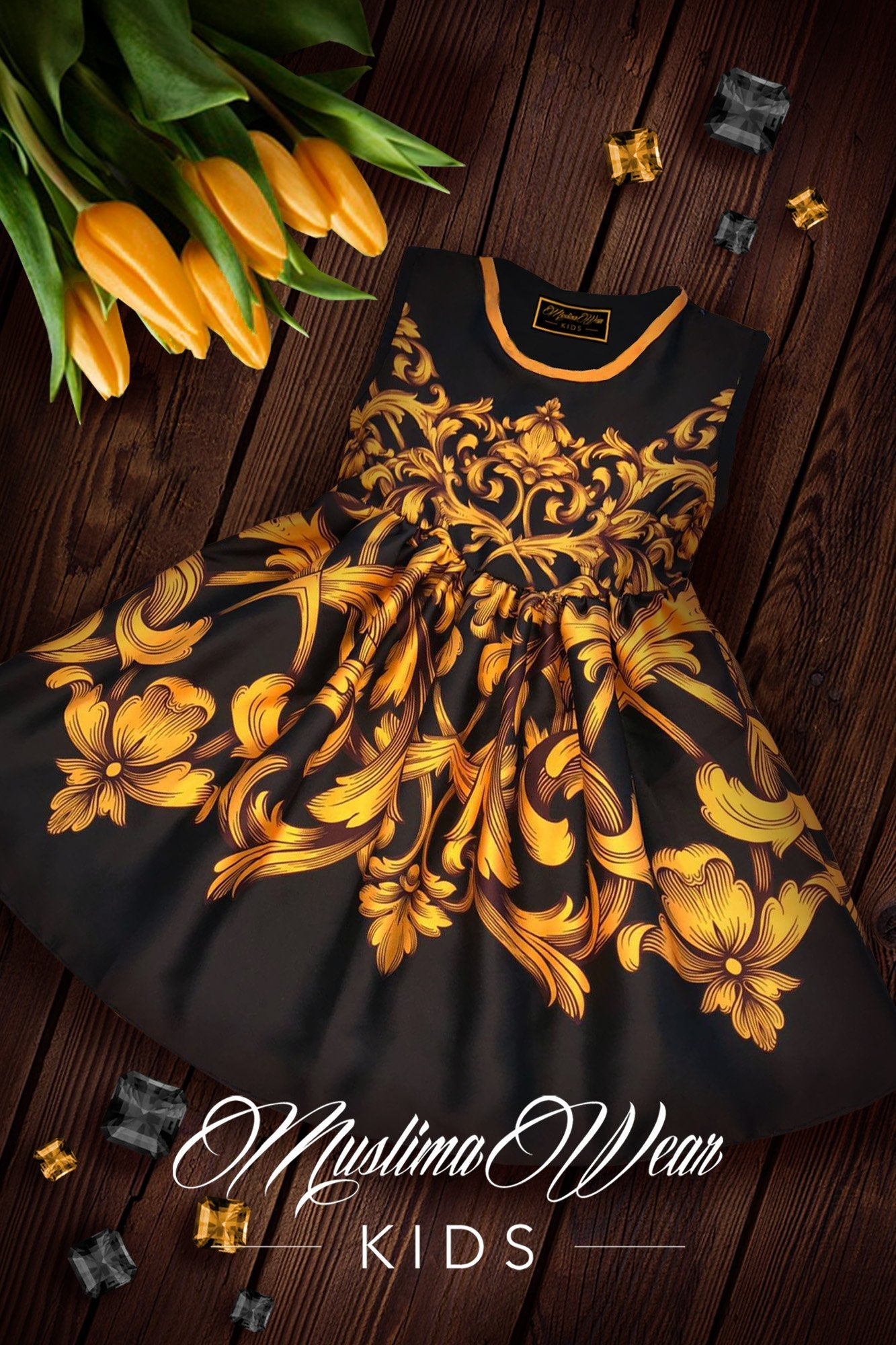Golden Orchid Dress