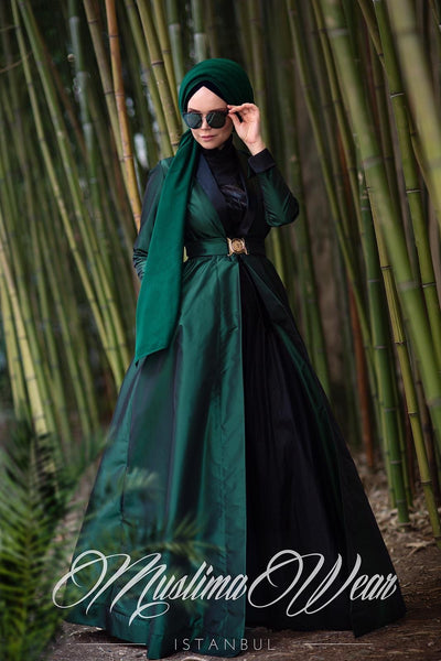 Stella Taffeta Trench Coat Green