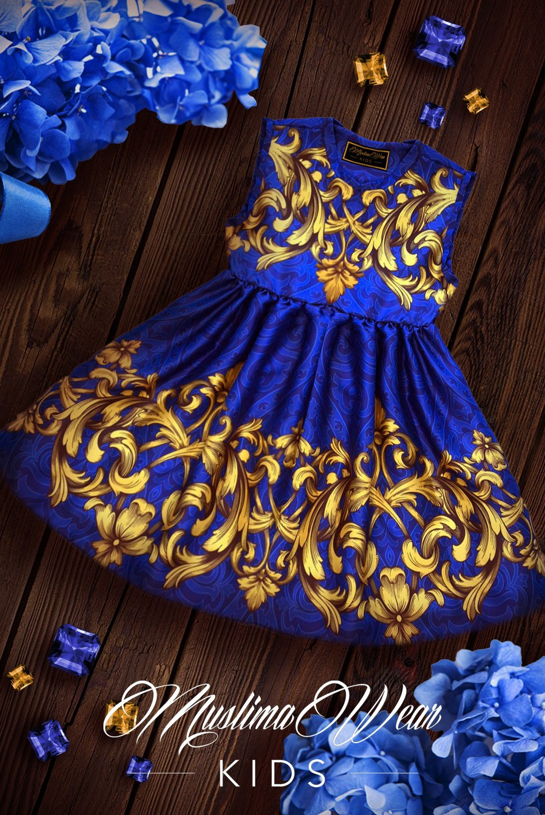 Sultana Royal Blue Dress