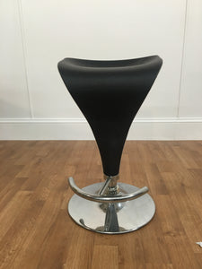 BLACK/WHITE LEATHER BAR STOOL
